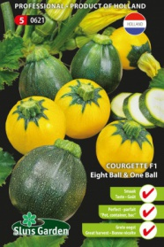 Courgette Eight Ball & One Ball F1